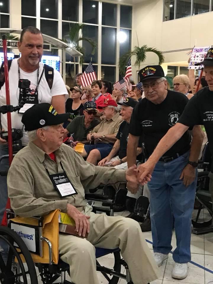 Veteran Returns from Honor Flight