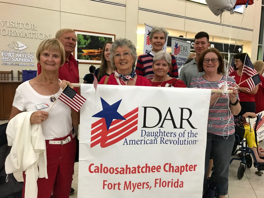 Members Welcoming Honor Flight Veterans